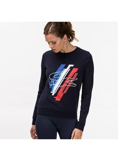 Lacoste Baskılı Sweatshirt Lacivert